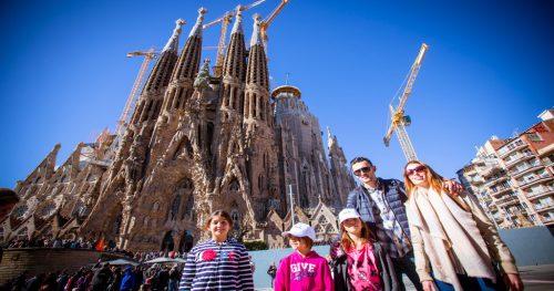 Kids tour at Sagrada Familia